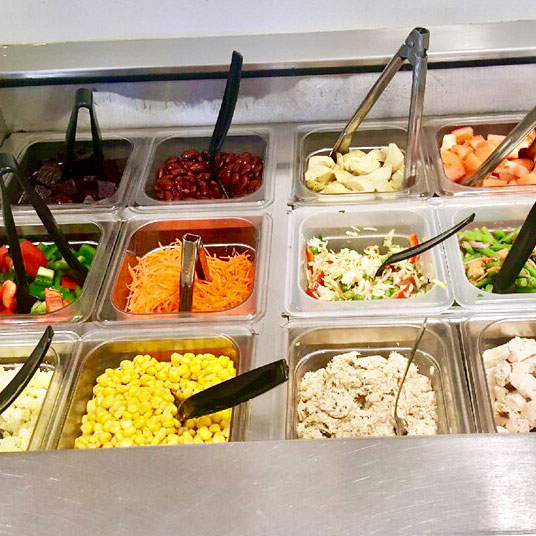 Company cafe catered salad bar