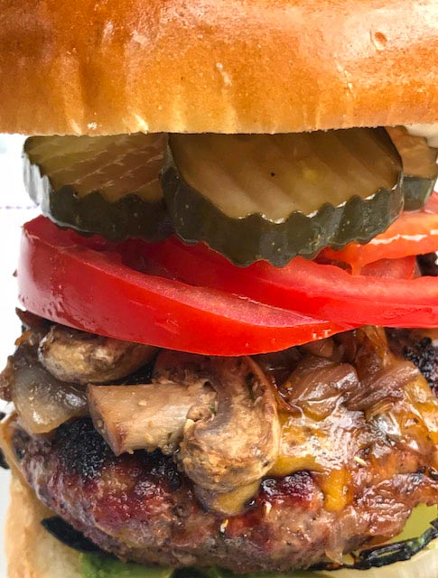 mushroom cheddar burger