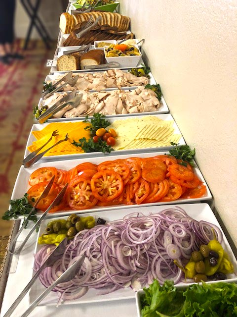 deli spread at catered lunch by Bay Area Corporate Catering